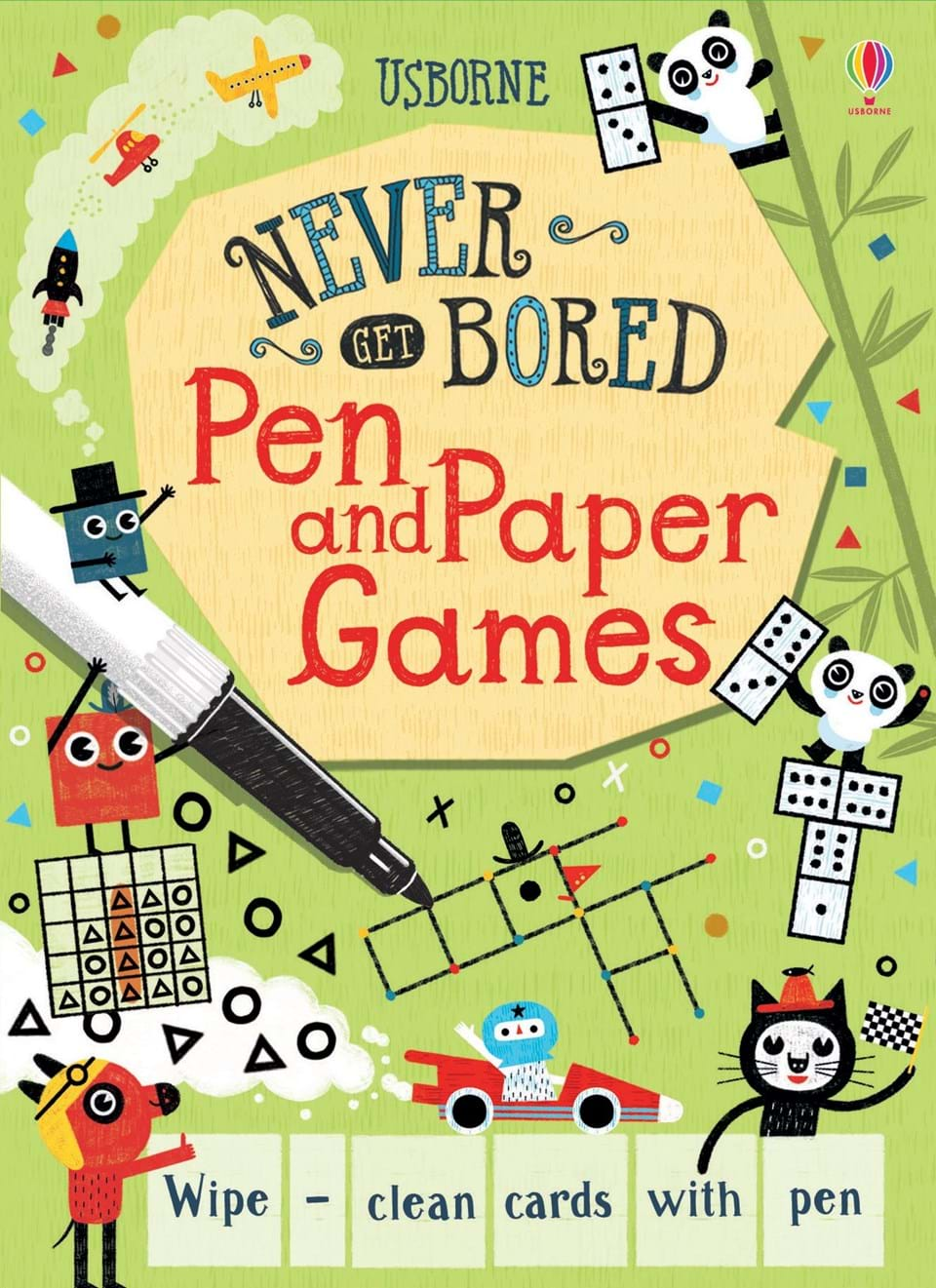 Never get bored - Pen and paper games
