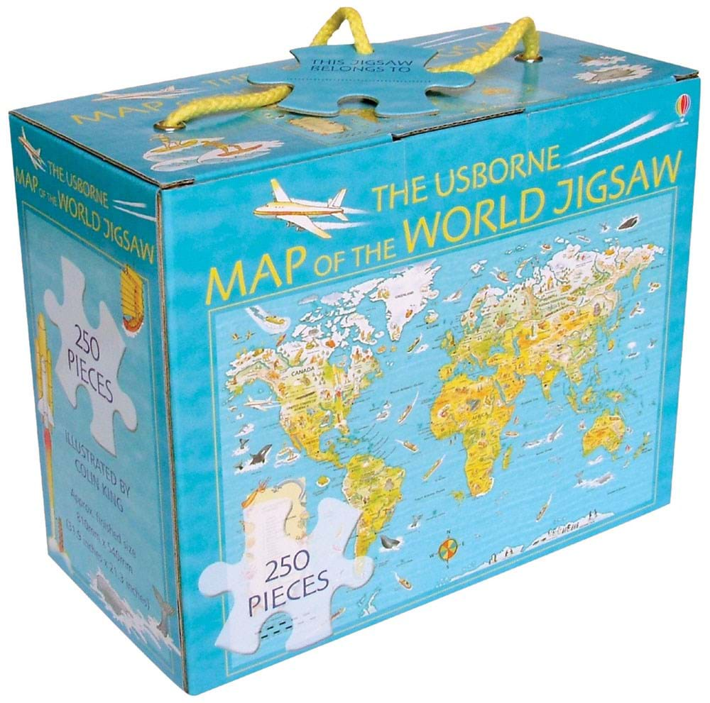 Map of the world jigsaw (250 pcs)