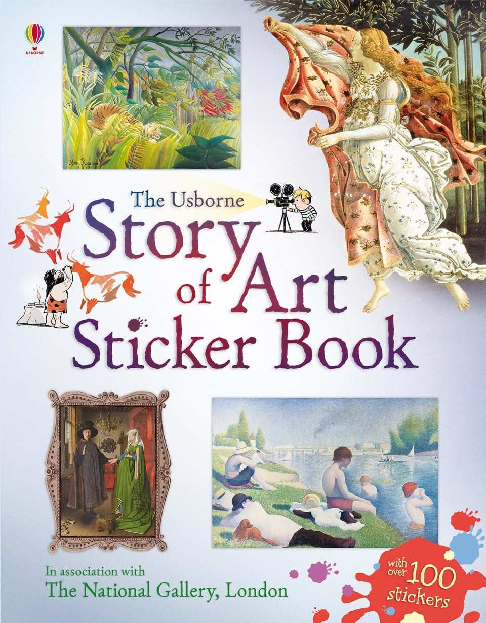 Story of art sticker book
