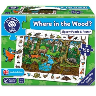 Where in the Wood Jigsaw - Puzzle & Poster (Orchard Toys)