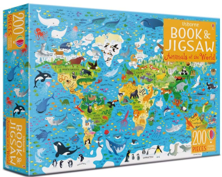 Animals of the world - Book & Jigsaw Puzzle (200 pcs)